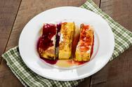 Stock Photo of french toast sticks with syrups