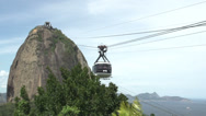 Stock Video Footage of 096 Rio, Sugarleaf Mountain, cableway, timelapse