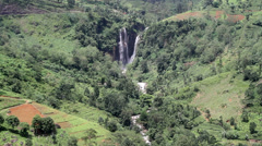 Distant waterfall Stock Footage