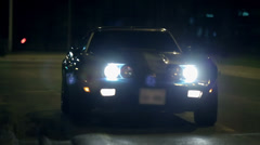 Close shot of Corvette's headlights - stock footage