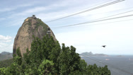 Stock Video Footage of 094 Rio, Sugarleaf Mountain, cableway
