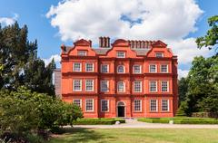 kew palace, red brick mansion at kew gardens - stock photo