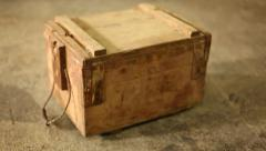 Old Wooden Box Stock Footage