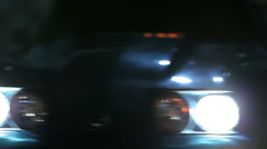 Stock Video Footage of Corvette gleaming in the city lights