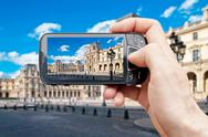 Stock Photo of smart phone in paris