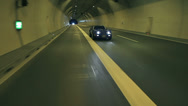Stock Video Footage of Corvette drives behind the camera in the tunnel