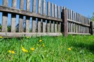 Stock Photo of old wooden fence