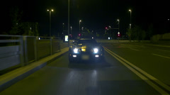Corvette overtakes and passes by Stock Footage