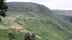 Farmed hillsides, Sri Lanka Stock Footage