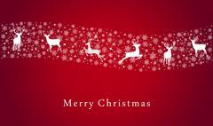 Merry christmas deer illustration Stock Illustration