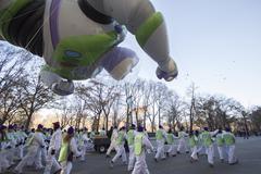 Buzz Lightyear balloon in 2013 Macy's Parade - stock photo