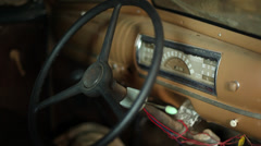 Vintage Car Dashboard Stock Footage
