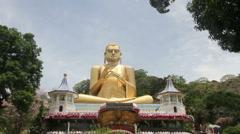 Golden Temple Dambulla Stock Footage