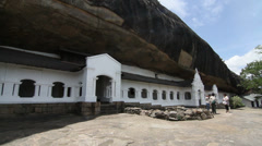 Rock Temple Dambulla Stock Footage