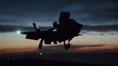 F-35B Lightning II jet Developmental Testing phase II Stock Footage