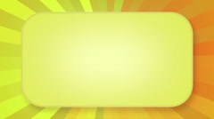 Title plate yellow orange rays loopable background Stock Footage