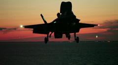 F-35B Lightning II jet Developmental Testing phase II Stock Footage