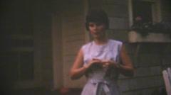 Vintage  movies 8mm, sunburn leg Stock Footage