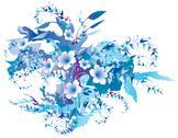 Delicate frozen floral Stock Illustration