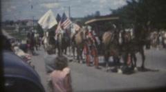 Vintage  movies 8mm, parade surrey Stock Footage