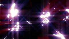 Random Spinning Bright Lights Abstract Background for use with music videos Stock Footage