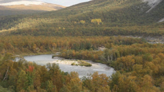 norwegian autumn landscape 4 - stock footage