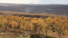 norwegian autumn landscape 7 - stock footage