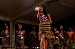 maori cultural show - stock photo
