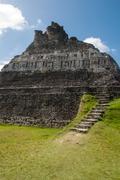Mayan ruin - xunantunich in belize Stock Photos