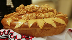 Decorated bread Stock Footage