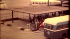 travel historic pan american terminal United Kingdom 1950s vintage - stock footage