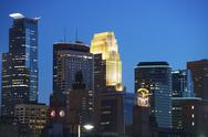 Stock Photo of minneapolis at night