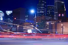 Minneapolis evening traffic Stock Photos