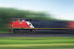 Train rush. speeding american train Stock Photos