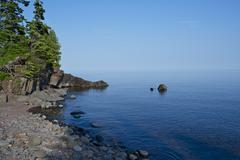 Lake superior shore in northern minnesota state Stock Photos