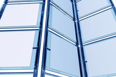 glassy 3d display. trade show display closeup - stock illustration