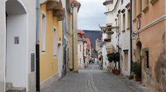 Durnstein Cobbled Street Stock Footage