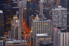 cityscape chicago. city of chicago - stock photo