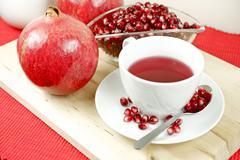 healthy antioxidant pomegranate tea - stock photo