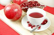 Stock Photo of healthy antioxidant pomegranate tea
