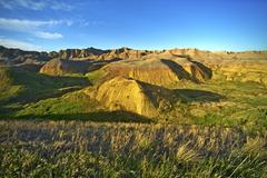 Sunset in badlands national park Stock Photos