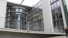 Government building in Berlin, Germany Stock Footage