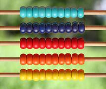 Colorful wooden abacus Stock Photos