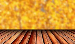 old wooden balcony view - stock illustration