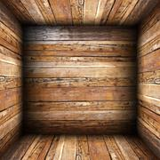 Architectural wooden empty interior backdrop Stock Photos