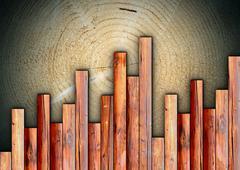 Interesting wood floor Stock Illustration