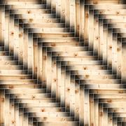 spruce wooden floor parquet - stock illustration