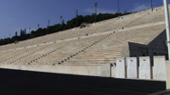 Stock Video Footage of Pan across original olympic stadium in Athens