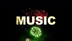 Music fireworks 02 Stock Footage