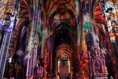 lighting in the inner space of dom stephen - stock photo